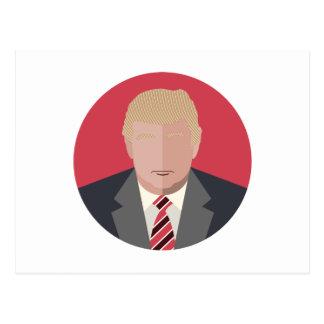 Representação do gráfico de Donald Trump Cartão Postal