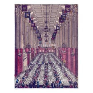 Representação do interior da capela cartoes postais