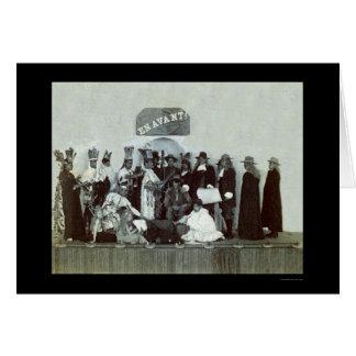 Representação histórica 1889 do dia de Turquia Cartoes