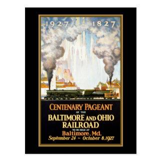 Representação histórica centenária Baltimore e Cartão Postal