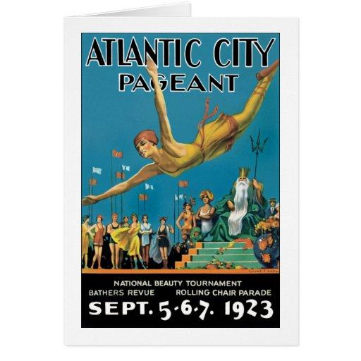 Representação histórica de Atlantic City Cartões