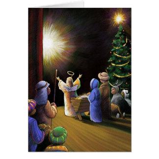 Representação histórica do Natal Cartão Comemorativo