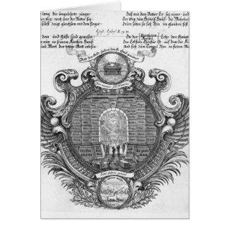 Representação pictórico cartão comemorativo