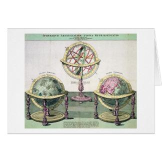 Representações típicas de esferas artificiais (col cartão comemorativo