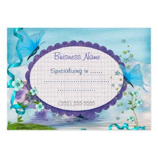 Representante azul do boutique ou empresa de cartão de visita grande