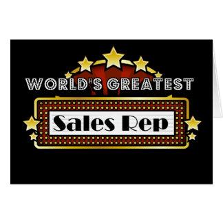 Representante das vendas do mundo o grande cartão comemorativo
