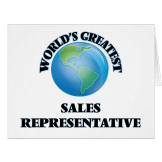 Representante de vendas do mundo o grande cartão