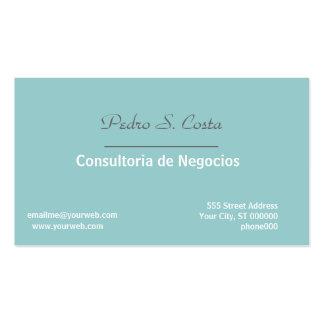 Representante do consultante do Entreprise Cartão De Visita
