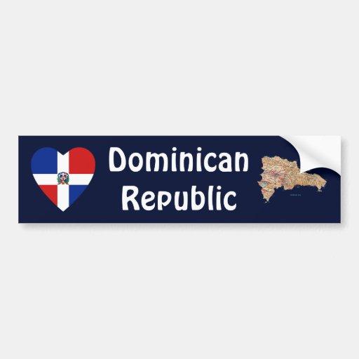 Representante dominiquense. Coração da bandeira +  Adesivo