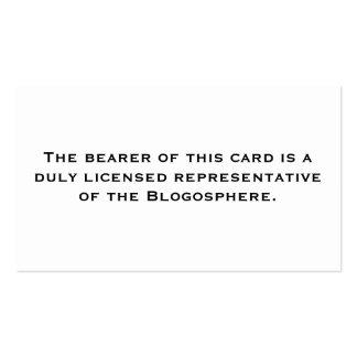 Representante licenciado: Blogosfera Cartão De Visita