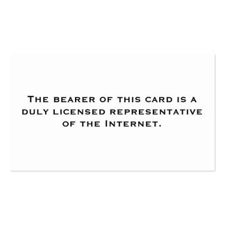 Representante licenciado: Internet Cartão De Visita