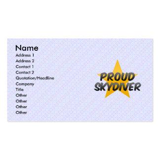 Representante orgulhoso das vendas cartão de visita