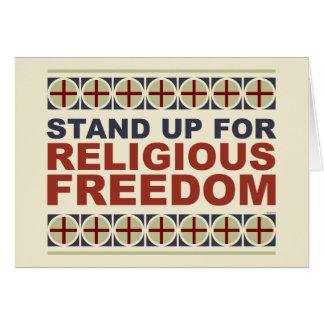 Represente acima a liberdade religiosa cartao