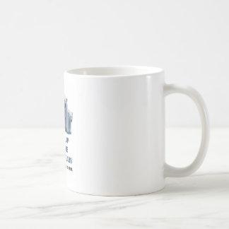 Represente acima os ursos polares caneca de café