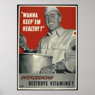 Reprodução de um poster da propaganda de WWII