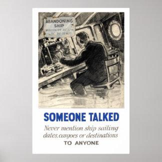 Reprodução de um poster da propaganda de WWII Pôster