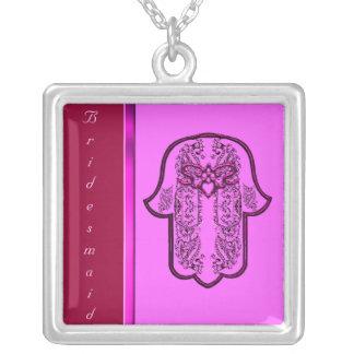 Repto da mão de Hamsa: Coração (casamento) (rosa) Pingentes