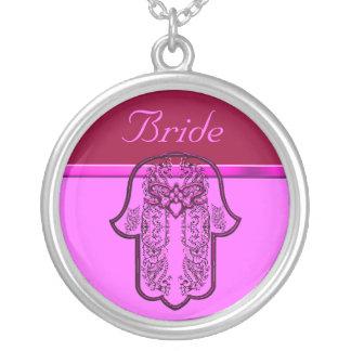 Repto da mão de Hamsa: Coração (casamento) (rosa) Bijuteria