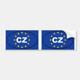 República checa - CZ - oval da União Europeia Adesivos