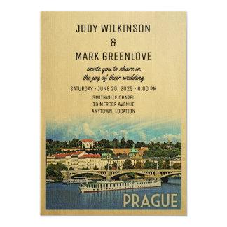 República checa do convite do casamento de Praga