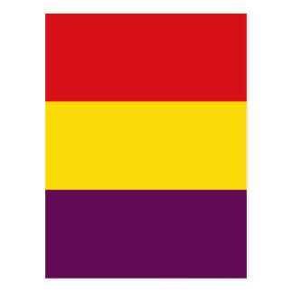 República da bandeira da espanha - bandera cartão postal