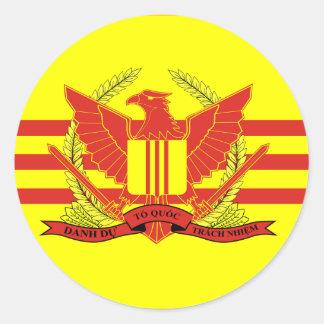 República da bandeira das forças militares de adesivo redondo