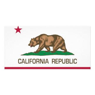 República de Califórnia (bandeira do estado) Cartões Com Fotos Personalizados
