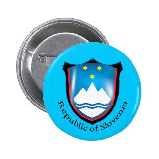 República do botão de Slovenia Boton