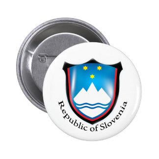República do botão de Slovenia Bóton Redondo 5.08cm