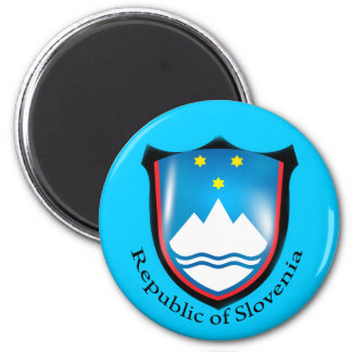 República do ímã de Slovenia Ímã Redondo 5.08cm