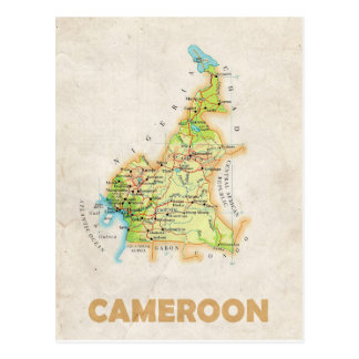 ♥ República dos Camarões dos CARTÃO do MAPA