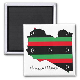 República líbio (bandeira no mapa) imas de geladeira