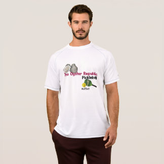 República Pickleball da ostra da camisa do T dos