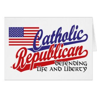 Republicano católico cartão comemorativo