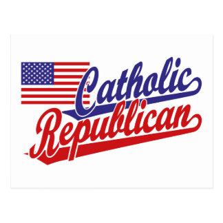 Republicano católico cartão postal