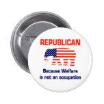 Republicano engraçado - bem-estar botons