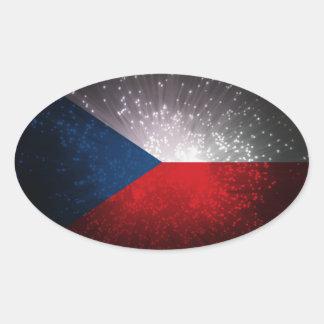 Republika de Česká Adesivo Oval