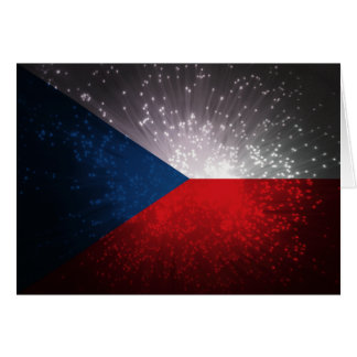 Republika de Česká; Bandeira checa Cartão De Nota