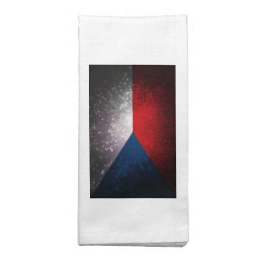Republika de Česká; Bandeira checa Guardanapo De Pano