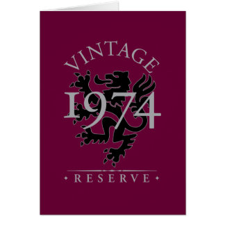 Reserva 1974 do vintage cartão