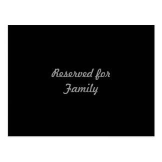 Reservado para a família cartão postal
