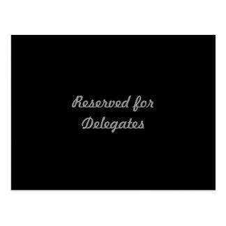 Reservado para delegados cartão postal