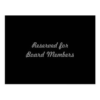 Reservado para membros da administração cartão postal