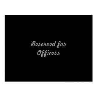 Reservado para oficiais cartão postal