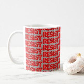 RESISTA a caneca de café - cinzas e vermelho da