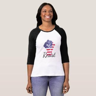 Resista camisa do trunfo de Democrata da bandeira