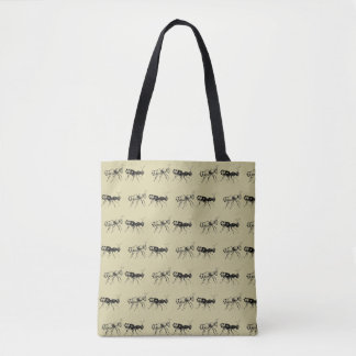 Resista formigas por todo o lado na sacola do bolsa tote