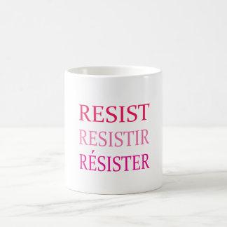 RESISTA na caneca cor-de-rosa da resistência de 3