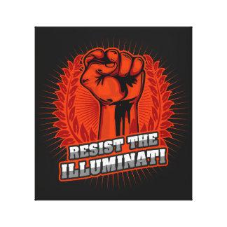 Resista o punho aumentado laranja de Illuminati