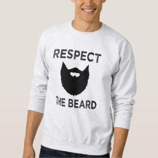 Respeite a camisola dos homens engraçados da barba moletom